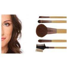 Six Piece Starter Set Natural Makeup Look 5 Brushes + Cosmetic Bag