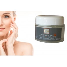 Skin Care Solution Anti-Aging Nightly Defense Facial Face Cream Q10