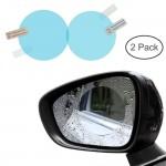 2 Pcs Car Mirror Window Clear Film Anti Fog Anti-Glare Waterproof Rainproof Auto