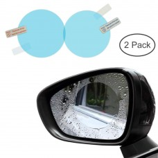 2 Pcs Car Mirror Window Clear Film Anti Fog Anti-Glare Waterproof Rainproof Auto