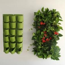 18 Pockets Vertical Garden Wall Planter Living Hanging Flower Pouch Bags