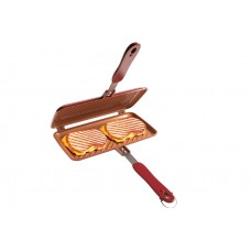 Non-Stick Grilled Sandwich Panini Maker Press Duo Dual Plates Riveted Handles