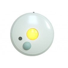 Wireless Battery-Powered Motion-Sensing LED Lighting Overhead Amber Night Light