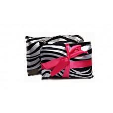 Cosmetic Bags Dual Set Zipper Closure Across
